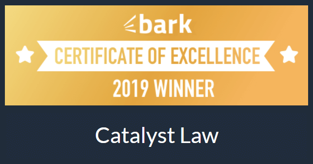 Certificate of Excellence - 2019 Winner - Catalyst Law