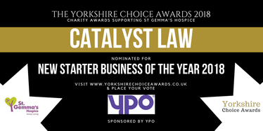 Yorkshire Choice Awards - New Starter Business of the Year 2018 - Catalyst Law