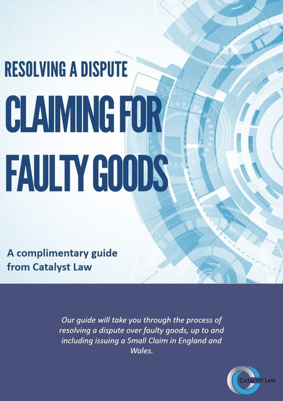 ebook cover - Resolving a Dispute, Claiming for Faulty Goods