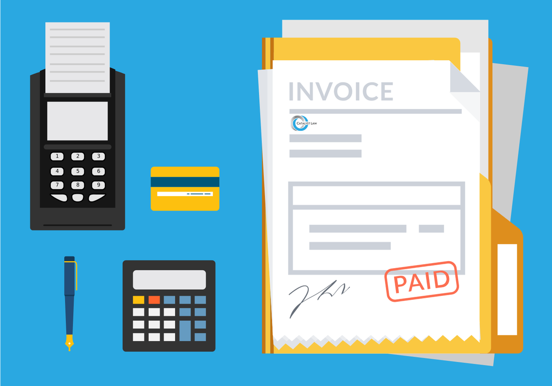 Paid invoice on a desk