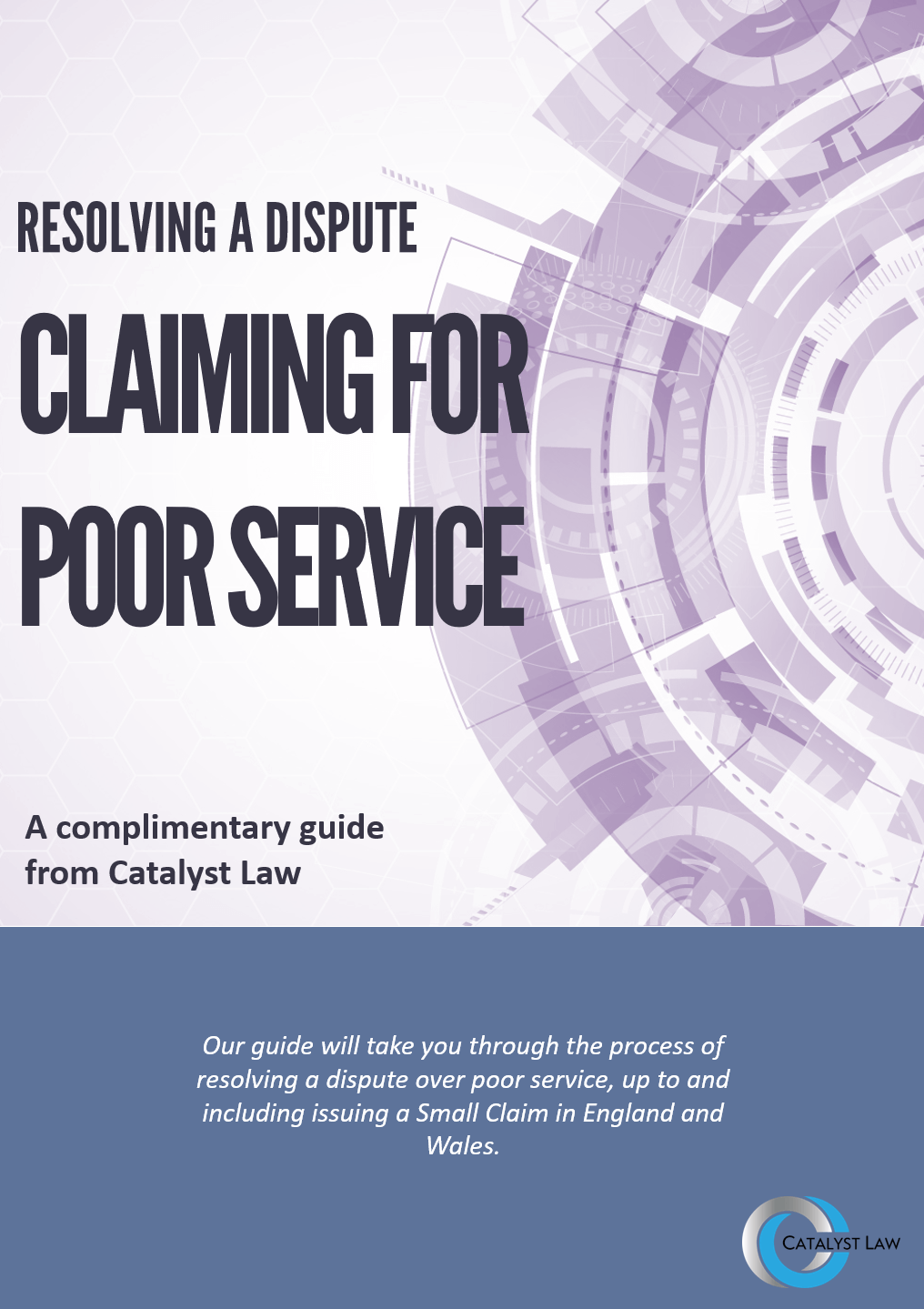ebook cover - Resolving a Dispute, Claiming for Poor Service
