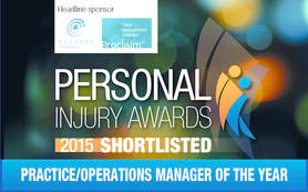 Personal Injury Awards Shortlisted Practice/Operations Manager of the Year - Jane Gittins