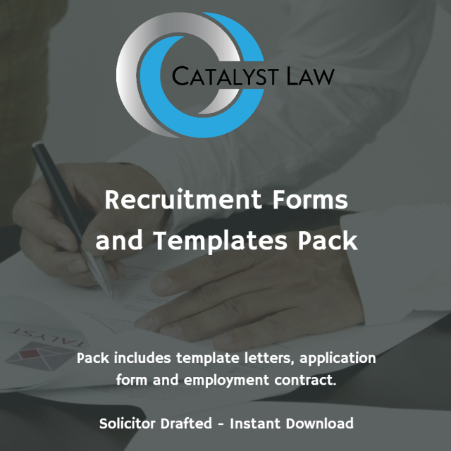 Recruitment Forms and Templates Pack